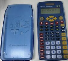 Texas Instrument Ti-15 Solar Powered Calculator With Case Tested Euc
