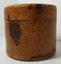 Round Leather Collar Box Eagle With 3 Arrows Seal Pat Aug 1879