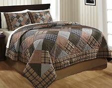 """3 Piece QUEEN """"PEYTON"""" Quilted Bedding SET ~ Country, Primitive, Vintage"""