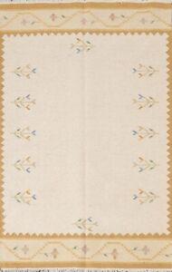Geometric Tribal Reversible Kilim Oriental Area Rug Hand-woven Wool Carpet 5'x7'