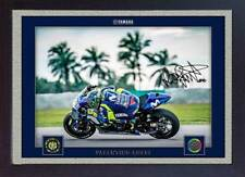 new Framed Valentino Rossi signed autograph photo print FRAMED