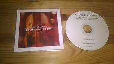 CD Indie Maur due & Lumières-Bright Lights Big City (2 chanson) promo las vegas