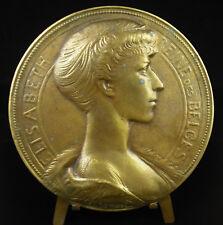 Medalla 1900 12cm Elizabeth Duquesa en Baviera Reina el belga Bélgica medal
