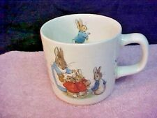 "Wedgwood Beatrix Potter Peter Rabbit Childrens Mug 3"" by 3"" Made in England"