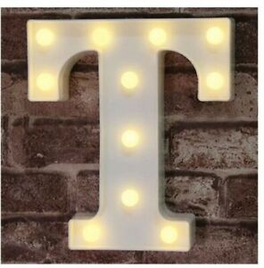 LED Marquee Letter Lights Sign, Light Up Alphabet Letter for Wedding Birthday -T