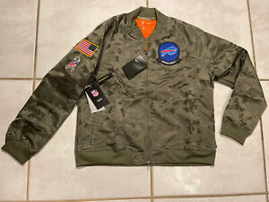 NWT NIKE Buffalo Bills SALUTE TO SERVICE NFL Camouflage Jacket Women's 2XL