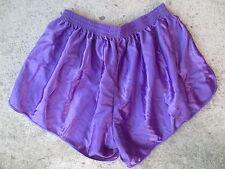Short MAIL SPORT vintage nylon shinny made in France années 80 violet 6x7 L