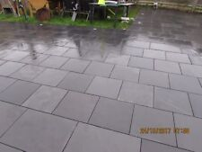 Black Slate Patio Slabs Paving Garden✔15m2 400x400mm 15 to 20mm Thick ✔FREE DEL
