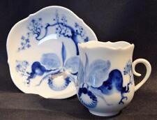 TAZZA di porcellana di Meissen migliori & Piattino ~ ORCHIDEA BLU ~ #824001 ~ inutilizzati ~ tedesco ~ RARA ~