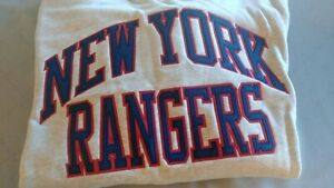 NY Rangers Mitchell & Ness Sweatshirt Raised Letters NYR Logo Patch NWT $98 MSRP