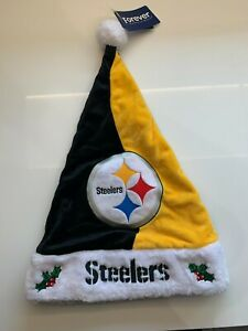 FOCO Pittsburgh Steelers Santa Hat! Team Color High Quality!