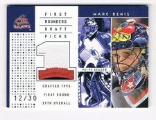 MARC DENIS 2003-04 UD SP GAME USED 3 COLOR 1ST ROUNDERS PATCH #12/30