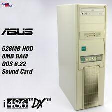 RETRO ASUS ISA-486SV2 COMPUTER PC INTEL 486 DX 33MHZ WINDOWS 3.11 MS-DOS 6.22