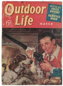 1941 Outdoor Life March-Salton Sea ducks; Champion Cooner; Chumming; Rope lions