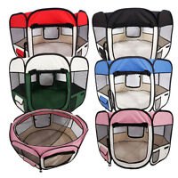 """36""""45""""57"""" Dog Kennel Pet Fence Soft Oxford Playpen Exercise Pen Folding Crate"""