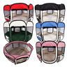 """36""""45""""57"""" Dog Pet Kennel Cat Fence Soft Oxford Playpen Folding Crate Colorful"""