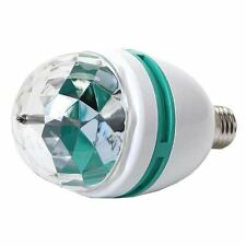 E27 3 LED Rotating Party Light Bulb RGB Colour Effect Disco Lamp 3W Screw Base