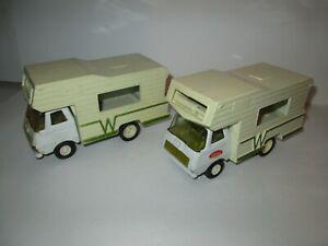 2 Older Tonka Pressed Steel & Plastic Campers