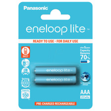 2 x Panasonic Eneloop Lite AAA 550 mAh Rechargeable Batteries HR03 BK-4LCCE/2BE