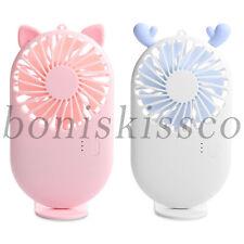 Handheld Fan Portable Light Mini Fan Speed Adjustable USB Rechargeable Outdoor