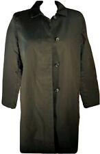 Gap Black Macintosh Raincoat XL Womens Slicker Trench Coat