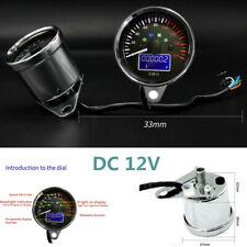 12V Motorcycle Vehicle Backlight Speedometer Odometer Fuel Level Meter Gauge Kit