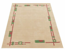 Maison By Premier Cream Green And Pink Rectangle Rug 200x140cm Hard Wearing