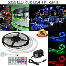 5mt LED STRIP LIGHTS TV BACK Kitchen Cupboard RGB Colour Changing Remote Control