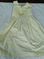 Bonnie Jean girls sleeveless dress size 6 yellow flowers dressy spring Easter