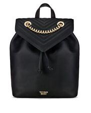 Victorias Secret Angel Backpack V-QUILT BLACK GOLD - NEW