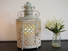 Beautiful Metal Lantern Candle Holder Shabby Chic Lantern Vintage Style Rustic