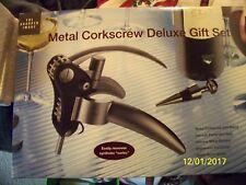 New listing New Factory Sealed Sharper Image Metal Corkscrew Deluxe Gift Set Pi500