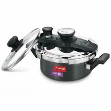 Prestige Clip On Hard Anodised Induction Pressure Handi Cooker With Glass Lid 2L