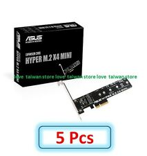 5 Pcs (DHL Ship) - New Original ASUS Hyper M.2 x 4 MINI Card PCI-Express Adapter