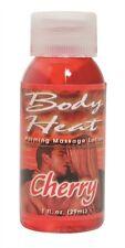 BODY HEAT 1 OZ CHERRY FLAVORED WARMING MASSAGE LOTION EROTIC ADULT ENHANCER