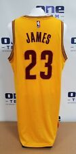 2014-16 LEBRON JAMES SIGNED CAVS GAME WORN USED JERSEY MEARS A10 AUTO SIA LOA !