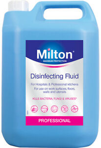 MILTON STERILISING FLUID 5 Ltr - KILLS 99.9% OF GERMS, FOR GENERAL CLEANING