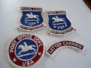 Vintage Post Office Dept Uniform Patches Letter Carrier & Postal Clerk