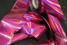 """""""Holographic pink"""" transfer nail art foil - 1 meter"""