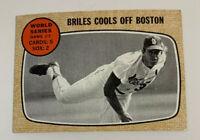 1968 World Series Game 3 # 153 St. Louis Cardinals Topps Baseball Card