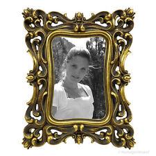 Bilderrahmen Rokoko Barock Stil Fotorahmen Gold Rahmen Polyresin 10x15 13x18 NEU