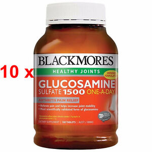 BULKBUY-10x BLACKMORES GLUCOSAMINE SULFATE 1500MG ONE-A-DAY 180 TABLETS DISCOUNT