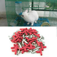 30pcs Poultry Rabbit Nipple Water Drinker Waterer Feeder Bunny Rodent Mouse