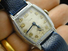 VINTAGE 1930 WRIST WATCH IN BASE METAL CASE RUNNING ON TIME