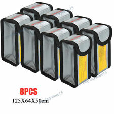 8pcs RC Lipo Battery Bag Charging Safe Guard Fireproof Explosion proof Sack