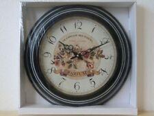 Wanduhr 45 cm rund Küchenuhr Uhr Dekoration Blumen Parfum 475121 (C)