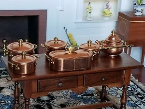 Dollhouse Miniature Artisan Bodo Hennig Copper Pots Lot 1:12