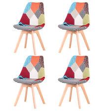 Pack de 4 sillas de comedor modernas silla cocina diseño Patchwork Multicolor