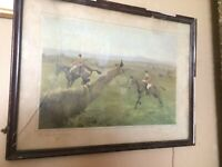 CHARLES WALTER SIMPSON - THE COUNTY GALWAY - HUNTING - ORIGINAL - SIGNED PRINT x