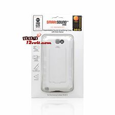 SmartSound SCSGN2WT White Gloss Case for Galaxy Note 2 -Sound Amplifying / Stand
